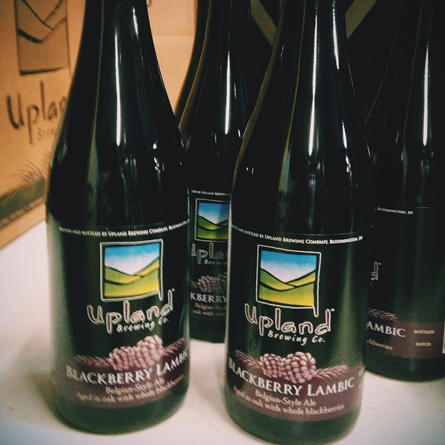 Bottling blackberry beauties today. #cheers #uplandsours