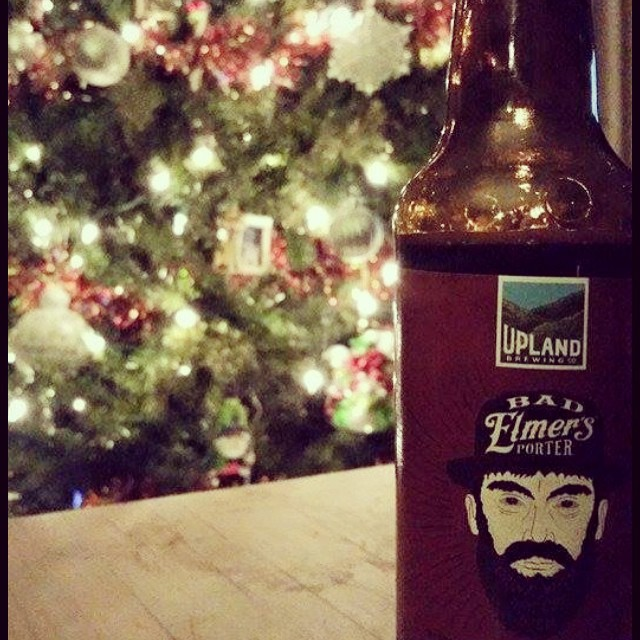 Ready for the holidays? Bad Elmer is. Photo: Stephanie Carter #cheers #craftbeer