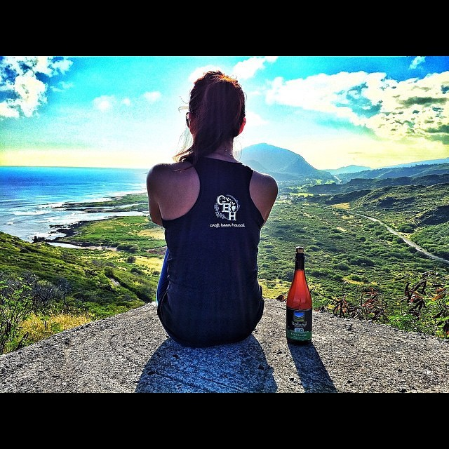 Our bottles get to visit some pretty rad places. #regram @craft_beer_hawaii #aloha #uplandsours #cheers