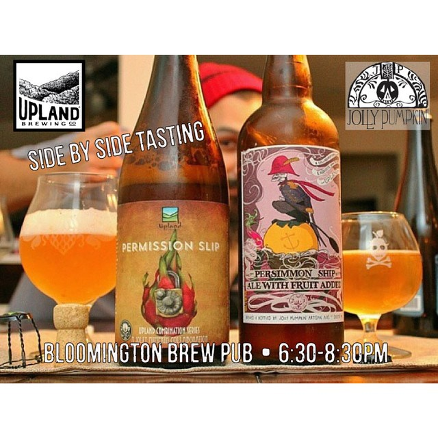 Mark your calendars... Upland Brew Co & @jollypumpkin party in Bloomington February 12! Side by side tastings of our sour collaborations and 2 JP guest taps! More details on our blog uplandbeer.com/blog #cheers #craftbeer Thanks again @xcorona79x for this badass pic.