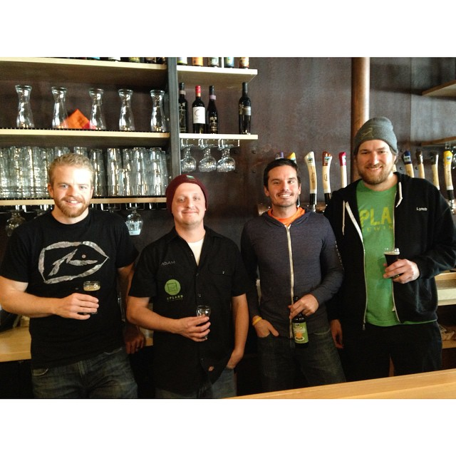 Visits from the brew crew make Mondays way better. Lots of tasty new brews coming your way soon! #craftbeer  #cheers