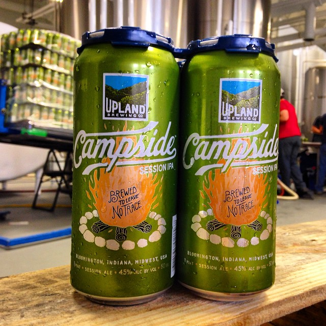 Our new cans are sexy as hell. Just sayin' #craftcans #craftbeer #campsideipa