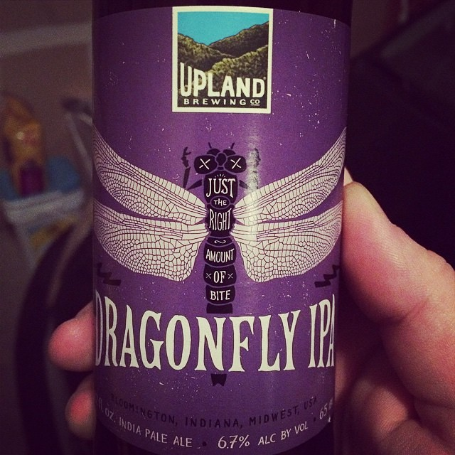 Just the right amount of bite. Grab a can of #DragonflyIPA @bankerslifefieldhouse while your cheering on the @indianapacers! Don't forget to stop by the #BeerMadness stand and vote for Upland! #cheers #regram @joyfuldrinker #craftbeer