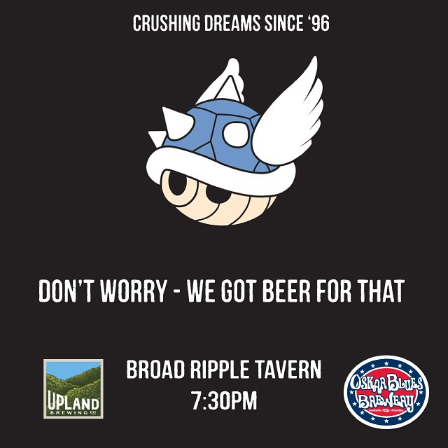 #MarioKart tourney tonight at Broad Ripple Tavern! #gameon #broadripple #indy