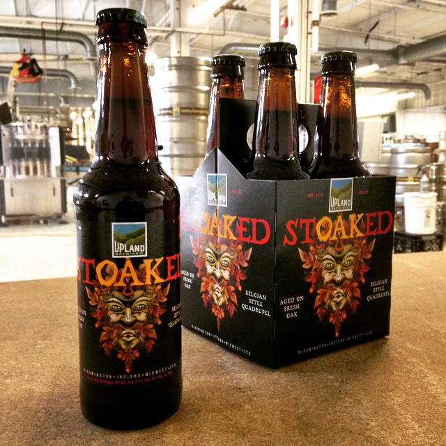 Fresh off the bottling line this morning! On tap this Friday at Upland locations. #craftbeer #StOAKEd