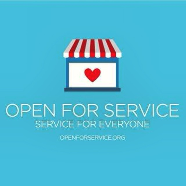 We're advocates of tolerance and acceptance of anyone who wishes to come through our doors. On board and #OpenForService